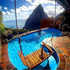 Ladera Resort in St Lucia. Beautiful Pools, Beautiful Places, Ladera Resort, Swing Design, My Pool, Dream Pools, Cool Pools, Awesome Pools, West Indies