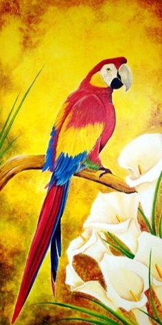 Pinturas & Cuadros: Bonitos cuadros con aves pintura óleo