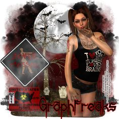 """Combine CT Tags with Snags for Graphfreaks and Michelle's Myths Valentine's Day is for everyone even zombies, like this sexy zombie lover by Graphfreask called """"Zombie Love"""" PTU sexy girl great details and hot outfit, matching kit by Michelle's Myths with 90 elements,and 8 papers, both available in stores now, for more information and links where to find them both  http://graphfreaks.blogspot.com/2015/02/combine-ct-tags-with-snags-for.html"""