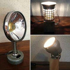 Petites lampes  #style industriel  #upcycled  #vintage…