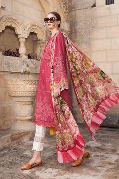 Maria B, Pakistani Salwar Kameez, Lawn Suits, Pakistani Outfits, Punjabi Suits, Designer Wear, Summer Collection, Kimono Top, Sari