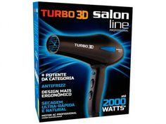 Secador de Cabelo Salon Line Professional Turbo 3D - 1900W 6 Velocidades com as melhores condições você encontra no Magazine Familier. Confira!