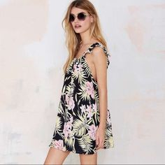 98a5a252c30 For Love And Lemons Tropical Palm Mini Dress Pants