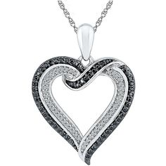 Womens White Diamond Sterling Silver Pendant Necklace ($290) ❤ liked on Polyvore featuring jewelry, necklaces, pendant necklaces, white diamond necklace, sterling silver jewellery, sterling silver necklace and sterling silver jewelry
