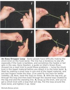 How to tie a dropper knot.