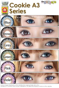 Series coloured cosmetic contact lens - blends naturally with your eyes Cosmetic Contact Lenses, Coloured Contact Lenses, Makeup Remover, Makeup Brushes, Circle Lenses, Makeup Store, Color Lenses, Colored Contacts, Diy Makeup