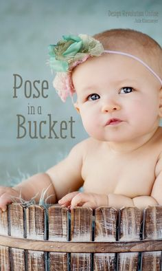 Here at Design Revolution, we have tons of awesome photography props— like buckets and baskets, that you can use in your studio for your newborn photography sessions.
