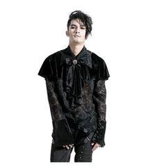 Punk Gothic Men's Retro Pattern Shirt $69.99