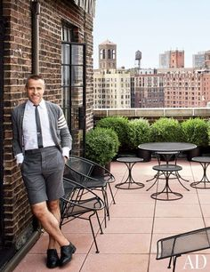 THOM BROWNE'S CRISPLY TAILORED MANHATTAN APARTMENT The fashion designer's aerie in Greenwich Village is filled with pristine midcentury pieces that match the meticulous style of his clothing collections