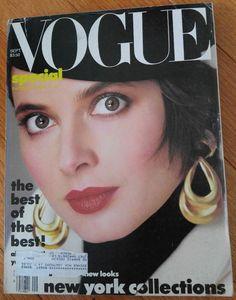 VINTAGE VOGUE MAGAZINE September 1985 Paulina Porizkova cover by Richard Avedon   eBay