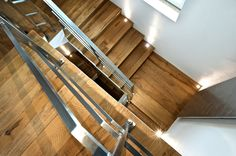 Element 7 |  exceptionally engineered wide plank floors | Forest Oak - floor matching stairs