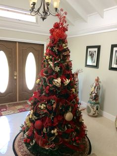 Our 2014 red & gold tree for the foyer
