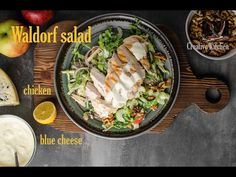 Waldorf salad, blue cheese and grilled chicken Cheap Meals, Easy Meals, Waldorf Salad, Recipe From Scratch, Blue Cheese, Grilled Chicken, Channel, Healthy, Ethnic Recipes