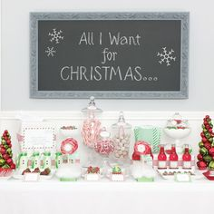 love this whole party! going to use some of these ideas for the treat table at the Santa session!