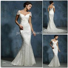 Wholesale 2011 new Card shoulder V-neck macrame lace wedding dress Mermaid Bride dress, Free shipping, $153.41/Piece | DHgate Mobile
