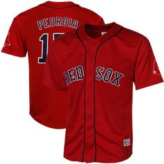 With lightweight and breathable polyester Cool Base material, the Boston Red Sox Dustin Pedroia Red Alternate Baseball Jersey has An athletic modern fit and tagless neck label add to the comfort of th