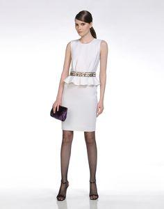 White 3/4 length dress Women - Dresses Women on EMILIO PUCCI Online Store