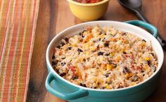 Rice and Black Beans. Serve as a side dish with chicken, pork and fish, or serve as a filling for burritos.