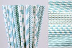 Light Baby Blue Paper Straws for Vintage Wedding Table Setting, Boys Birthday Baby Shower, Paper Goods,Party Drinking Supplies  //Price: $20.97 & FREE Shipping //     babyshowerdeals #babyroom #gift #baloons #babyshower #ideas #babies #baby #decor #roomdecor #babygirl #babyboy