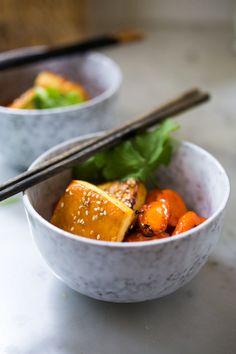 Honey Miso Carrot Tofu Bowl