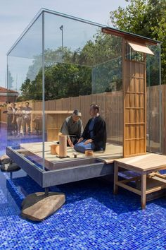 glass tea house mondrian pavilion by hiroshi sugimoto opens in venice | tea…