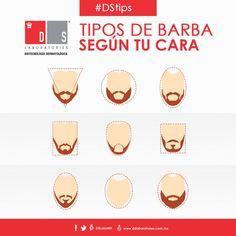 #DSTip: Para aquellos que gustan dejarse la barba, les compartimos los diversos estilos que pueden favorecerles según el tipo de cara. Tips, Male Style, Beard Types, Beards, Men, Beauty, Health, Counseling