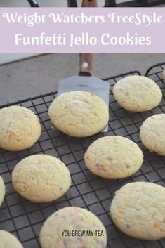 Make easy Funfetti Jello Cookies that fit into your Weight Watchers FreeStyle menu at only 2 SmartPoints each! A great Weight Watchers cookie that is family friendly!