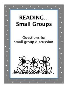Reading...Small Group Activity