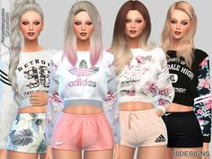 Created By Pinkzombiecupcakes Sweatshirts Collection 010 (Mesh Required) Created for: The Sims 4 -Available in 10 styles -Custom CAS thumbnail -In CAS find it at sweatshirt and t-shirt section. The Sims 4 Pack, The Sims 2, Sims 4 Cc Packs, Sims 3, Sims 4 Tsr, Sims Baby, Sims 4 Toddler, Sims 4 Mods Clothes, Sims 4 Clothing
