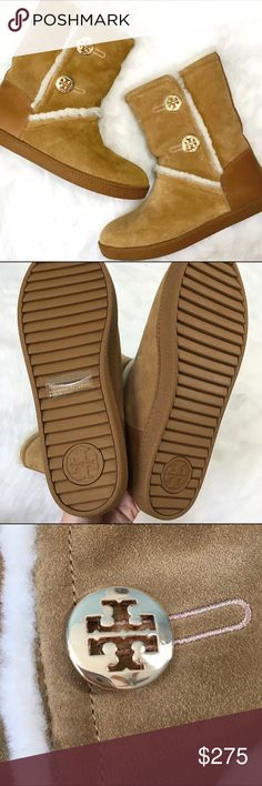NWT Tory Burch Shearling Booties These. Are. ADORABLE! Perfect condition, ship with original box, which is not in the best shape. Grab them before I decide to keep them - cute boots in an 11 are a major obstacle to being the Boss Lady I should be!  Tory Burch Shoes
