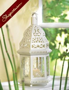 "20 Wedding Ivory Lacy Moroccan Candle Lanterns Centerpieces. $210. 6""x10"""