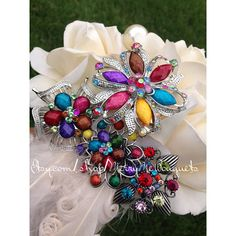 Hey, I found this really awesome Etsy listing at https://www.etsy.com/listing/192014183/ivory-wedding-bouquet-with-colorful