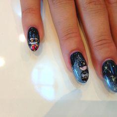 Batman e Robin I've painted on Sara's nails. Inspired by Chris Uminga artwork.