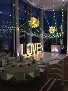Make the night even more magical with unique and fun lighting! This giant love sign sure adds more fun and glam to the night!