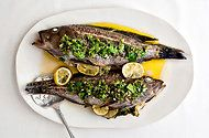 Whole Roasted Fish with Anchovy Salsa Verde