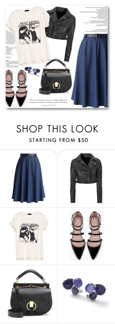 """""""How to style Denim Skirts: Casual"""" by angel-with-shotgun ❤ liked on Polyvore featuring Chicwish, Glamorous, Zara, Chloé and Ippolita"""