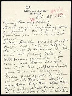 Frida Kahlo, New York, N.Y. letter to Emmy Lou Packard, San Francisco, Calif., 1940 October 24