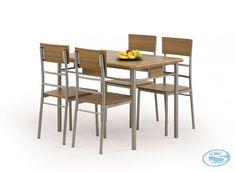 Jídelní set Natan 4+1 – HALMAR Moderní jídelní set Natan v jednoduchém stylu, který se hodí do každé jídelny za výhodnou cenu. Jídelní set obsahuje jídelní stůl a 4 židle. Stůl je vyroben v kombinaci … Outdoor Furniture Sets, Outdoor Decor, Orzo, Dining Chairs, Dining Sets, Teak, Design, Home Decor, Products