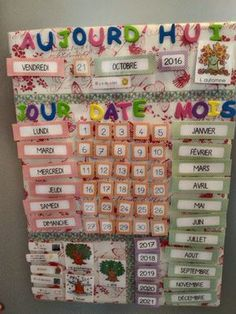 Calendrier perpétuel à faire avec les enfants Teaching French, Teaching English, French Education, Core French, Starting School, Diy Calendar, Wishes For Baby, Home Schooling, Toddler Activities