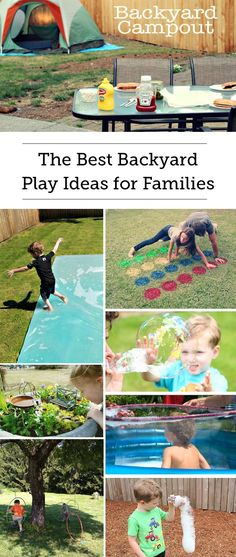 Best Backyard Family Play Ideas - So many great outdoor games and water play ideas, gonna try to do them all this summer!