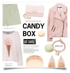"""""""Got Candy?"""" by marina-volaric ❤ liked on Polyvore featuring Wildfox, Valentino, Christian Louboutin, Ladurée, Michael Kors, Salvatore Ferragamo and rosegold"""
