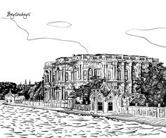 Different parts of Istanbul drawn for a construction company in Istanbul. All drawings are vector based.