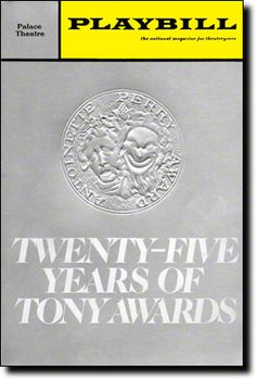 Playbill Cover for The 25th Annual Tony Awards - 1971 at Palace Theatre