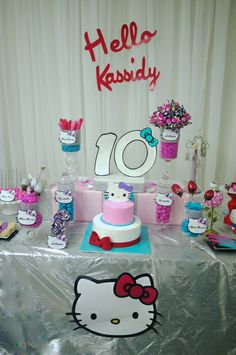 Fantastic Hello Kitty Birthday Party!  See more party ideas at CatchMyParty.com!