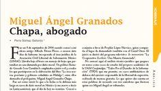 Miguel Ángel Granados Chapa, abogado