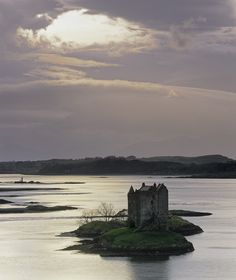 """pagewoman: """" Castle Stalker, Appin, Argyll, Scotland  by Ian Cameron """""""