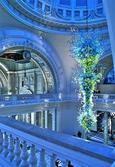 Lost in Museum...Victoria and Albert Museum, London, United Kingdom, photo by Nick Garrod via Flickr, Glass Sculpture by Dale Chihuly.