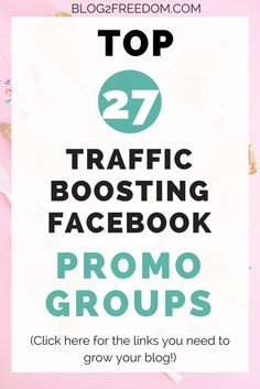 There are 27 awesome Promo Groups to join… Best Facebook, How To Use Facebook, Facebook Marketing, Social Media Marketing, Content Marketing, Digital Marketing, Make Money Blogging, How To Make Money, How To Start A Blog Wordpress