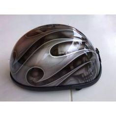 Silver Tribal Airbrush Helmet