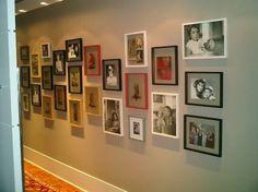 galeria fotos familiares decoracion pasillo